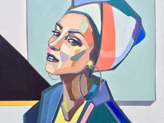 Agne Kisonaite paveikslas 'Selfie'