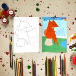 """Tapybos pamokos vaikams """"Išmok tapyti"""": Žvejojanti lapė"""